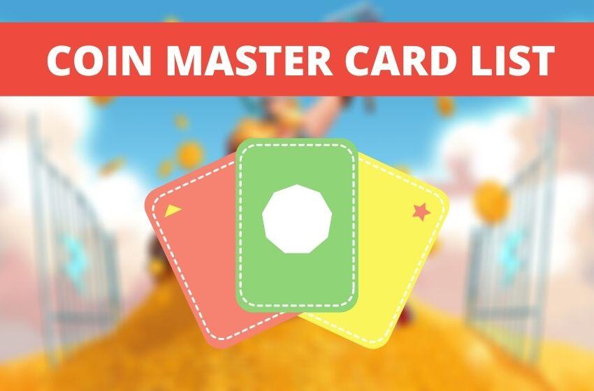 Coin Master Card List