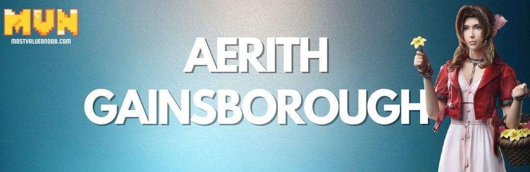 Aerith Gainsborough Final Fantasy VII best female Character