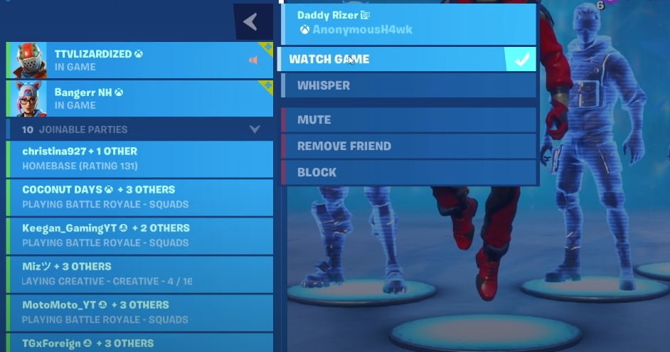 How to Spectate your friend in fortnite